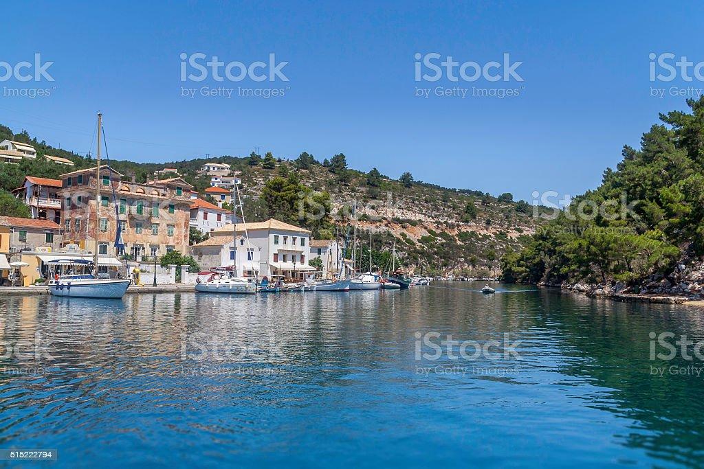 Gaios, Paxos Island, Greece stock photo