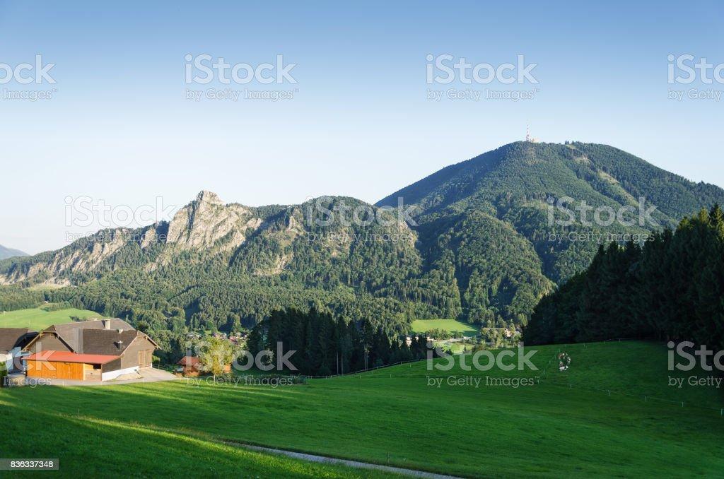 Gaisberg with Nockstein in Salzburg, Austria, Europe stock photo