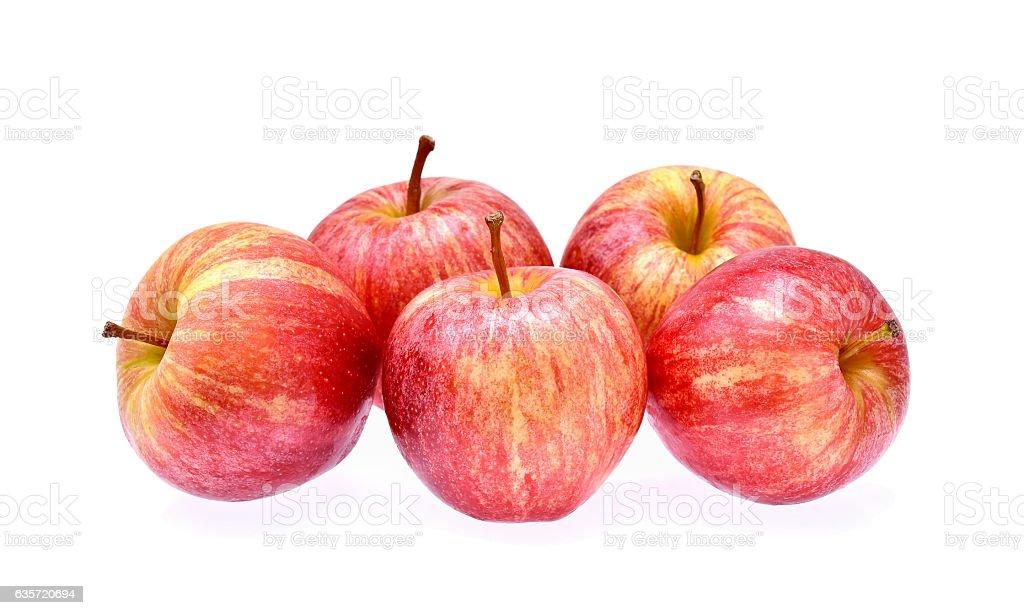 Gala apples on white background stock photo