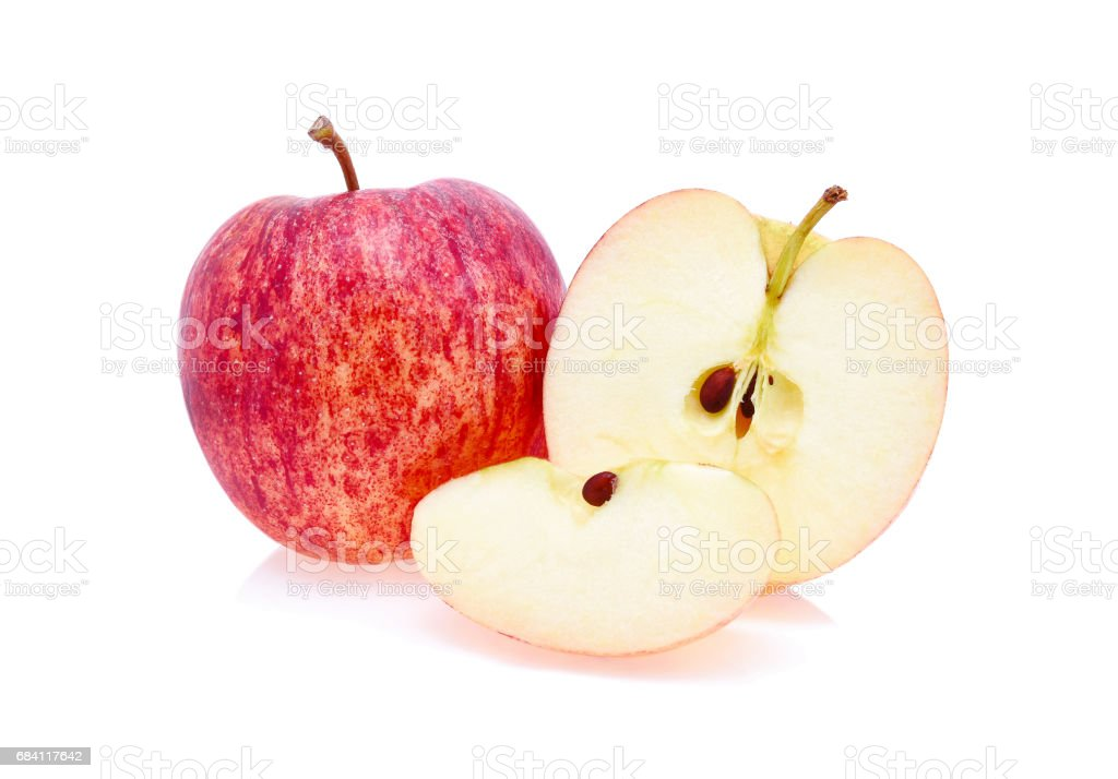 Gala apples over white background foto stock royalty-free