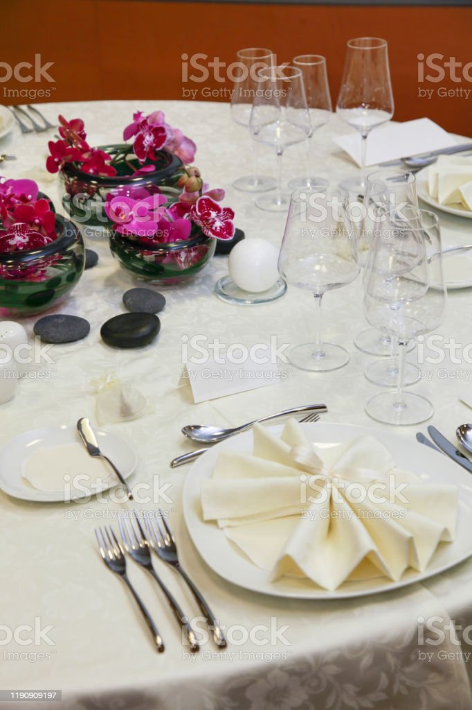 Gala Diner Table Setting Stock Photo Download Image Now Istock