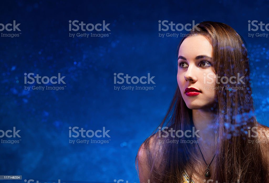 Galactic girl royalty-free stock photo