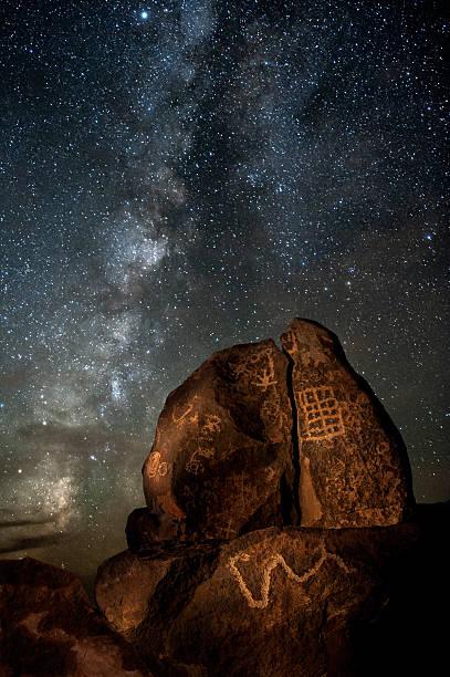 galactic petroglyphs - mağara resmi stok fotoğraflar ve resimler