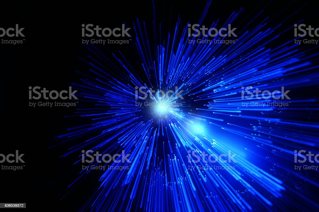 galactic space travel blur stock photo