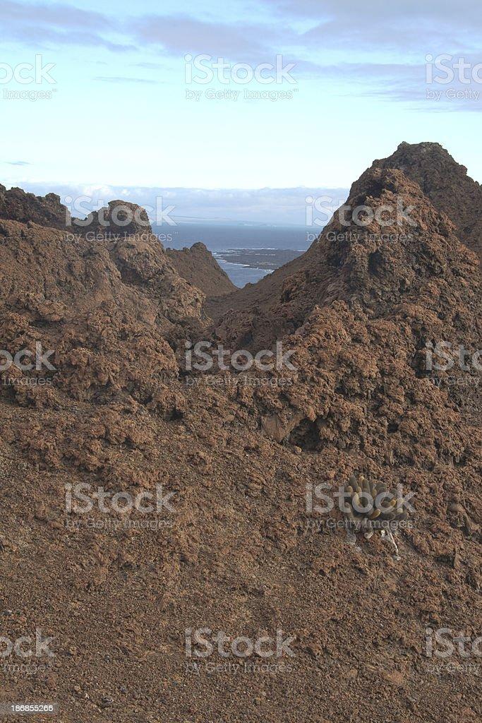 Galapagos Geology: Volcanic Cinder Cones, Bartolome Island stock photo