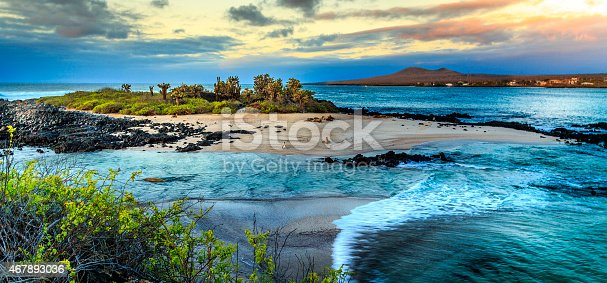 Sea view if one of the islands of the Galapagos