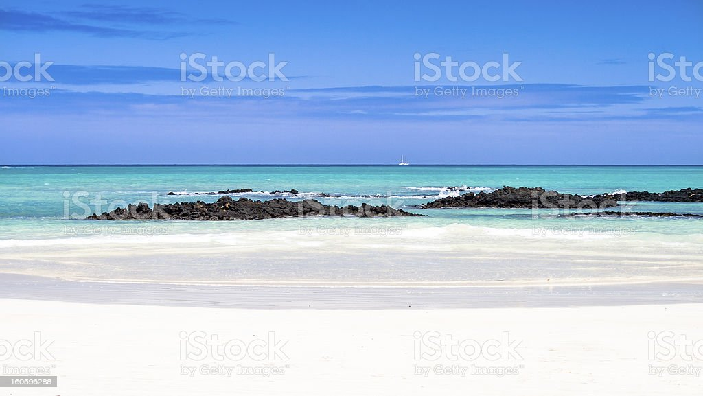 Galapagos sea view stock photo