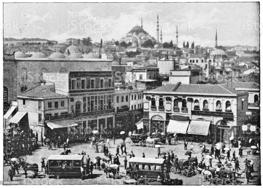 Galata in Istanbul, Turkey - Ottoman Empire stock photo