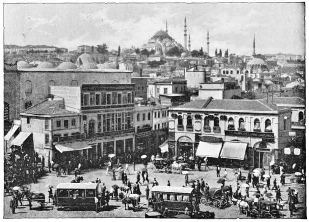 Galata in Istanbul, Türkei - Ottoman-Reich – Foto