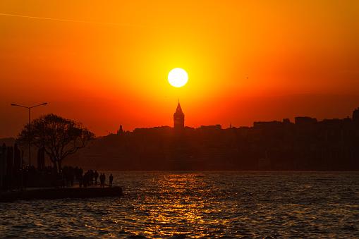 Galata Tower at sunset
