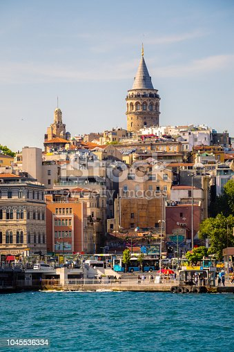 View of the Galata Tower from Byzantium times in Istanbul