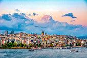 Galata Tower, Galata Bridge, Karakoy district and Golden Horn, istanbul – Turkey
