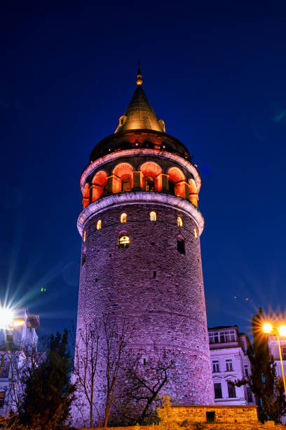galata tower in istanbul city of turkey.  view of the istanbul city of turkey with bosphorus, seagulls and boats. - галата стоковые фото и изображения