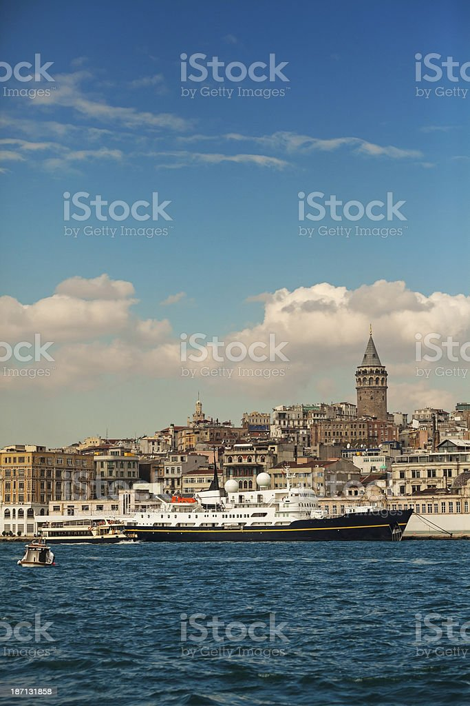 Torre de Gálata em Istambul - foto de acervo