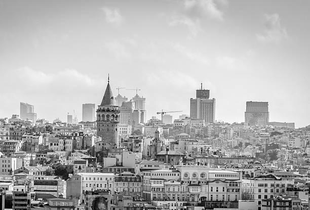 галатская башня в стамбул, турция - каракёй стамбул стоковые фото и изображения