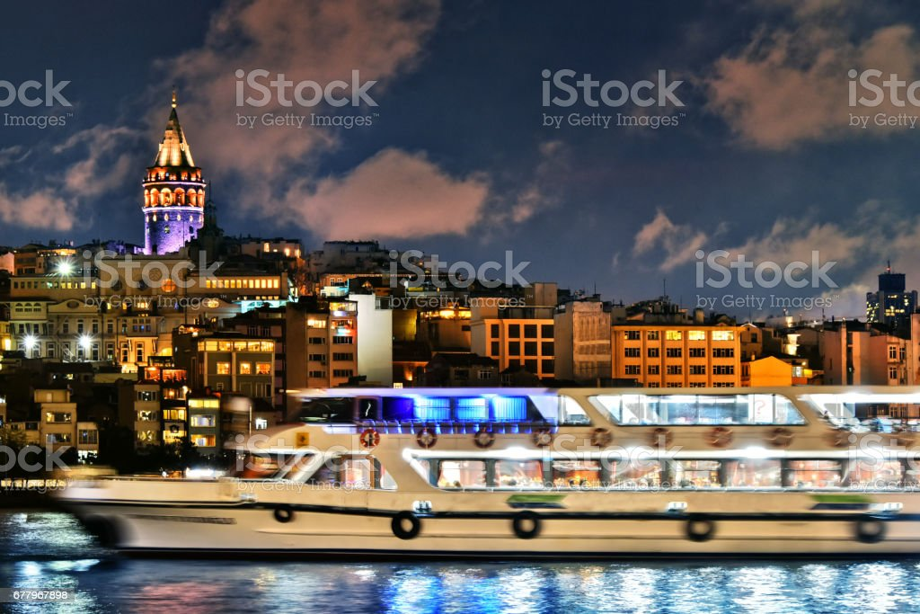 Galata Tower in the Galata quarter of Istanbul, Turkey royalty-free stock photo