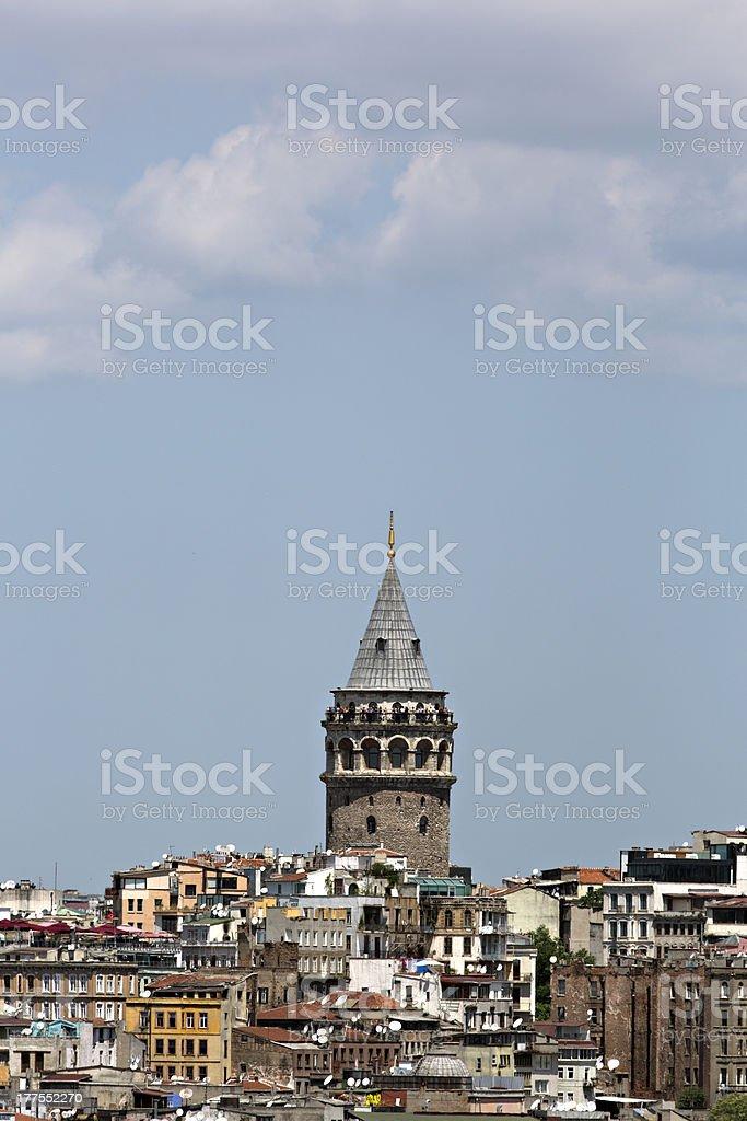 Galata tower, Istanbul, Turkey royalty-free stock photo
