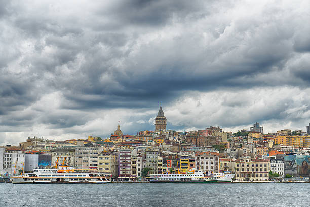 Galata Tower Istanbul Turkey stock photo