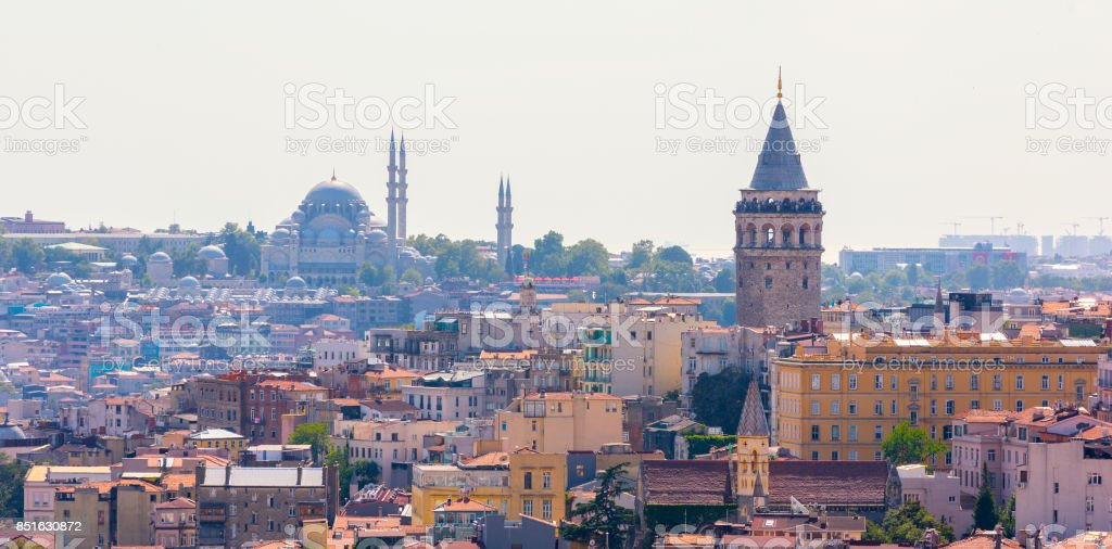 Galata Tower. Istanbul, Turkey. stock photo