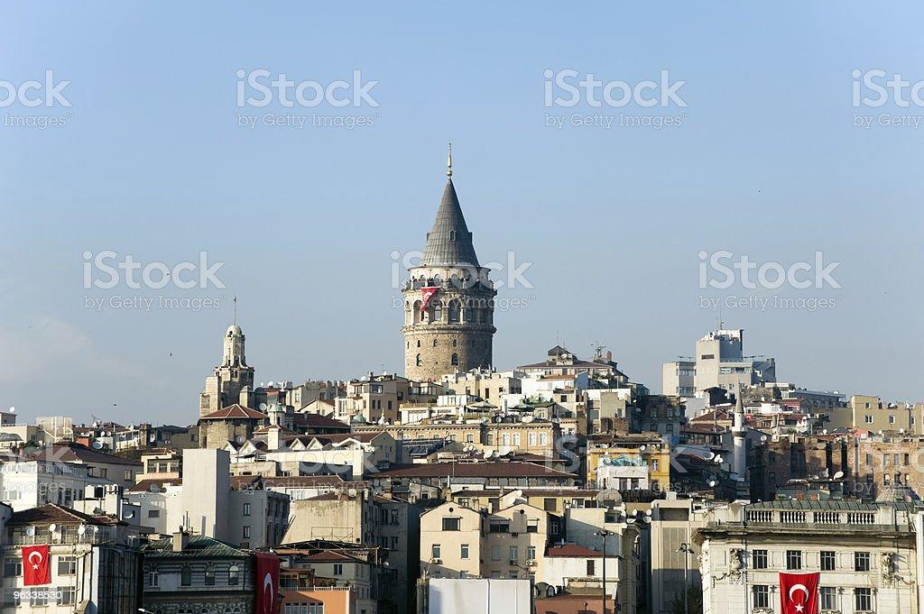 Galata Tower, Istanbul, Turkey - Royaltyfri Arkitektur Bildbanksbilder
