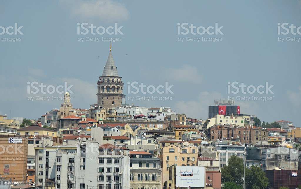 Galata Tower over Istanbul foto royalty-free