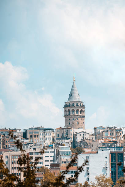 galata tower - каракёй стамбул стоковые фото и изображения