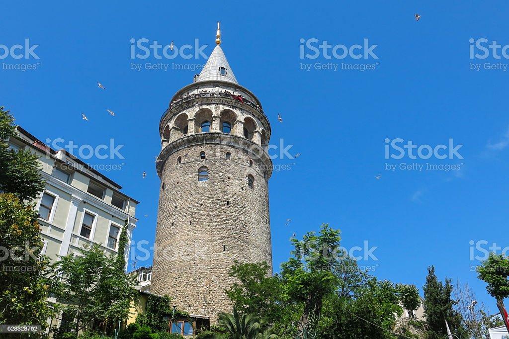 Galata Tower taken in Istanbul, Turkey stock photo