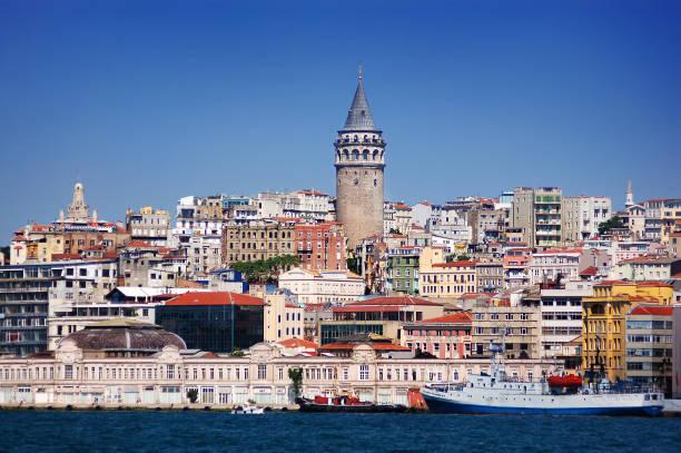 galata tower , turkey - каракёй стамбул стоковые фото и изображения