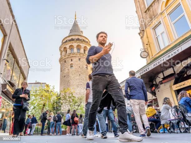 Galatatornet En Medeltida Sten Tower I Istanbul Turkiet-foton och fler bilder på Arkitektur