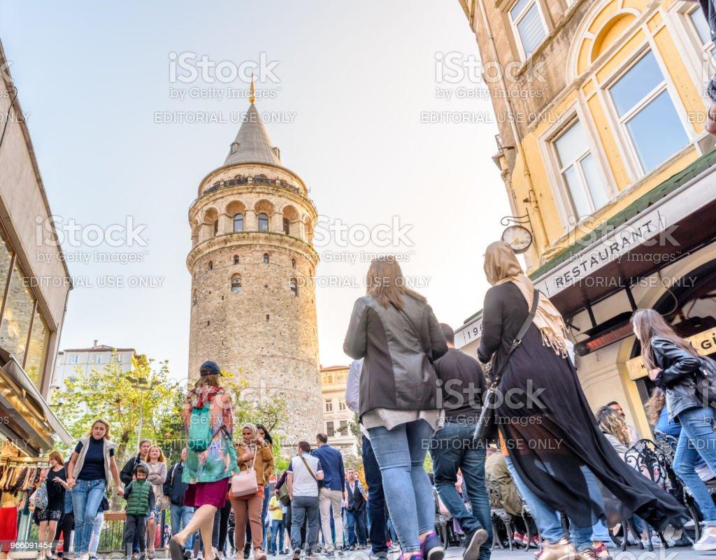 Galata-Turm, Turm einer mittelalterlichen Stein in Istanbul, Türkei - Lizenzfrei Alt Stock-Foto