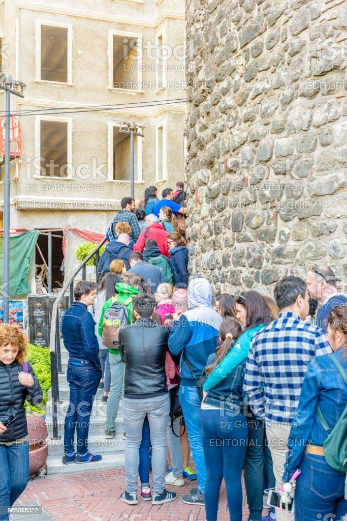 Galata-Turm, Turm einer mittelalterlichen Stein in Istanbul, Türkei - Lizenzfrei Abwarten Stock-Foto