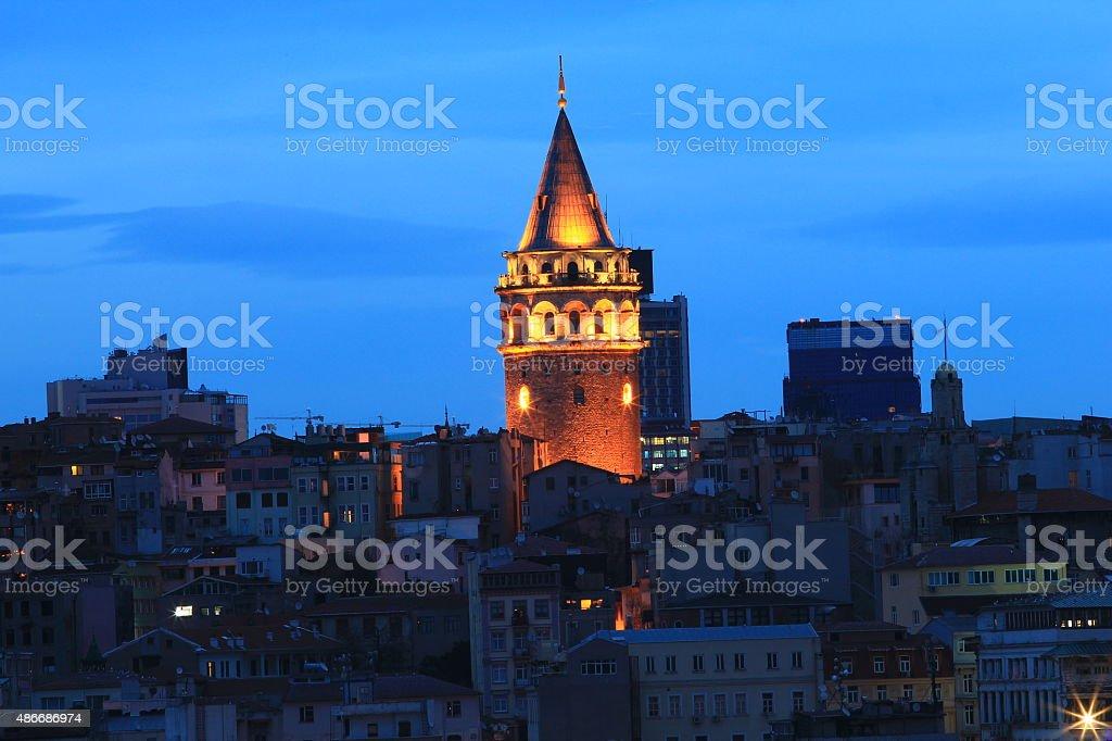 Galata Tower's stock photo