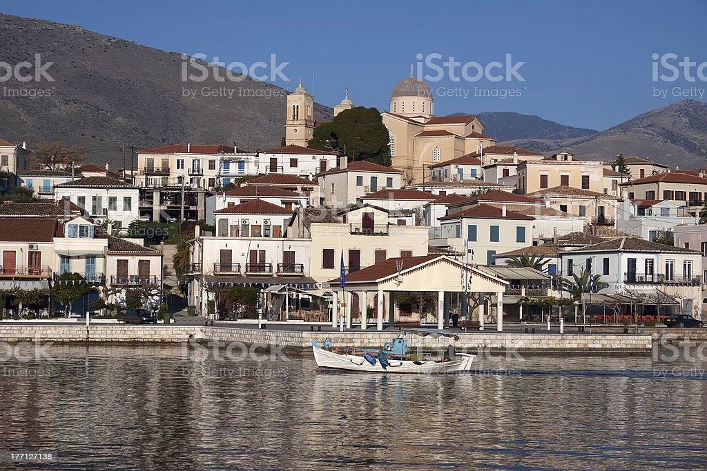 Galaxidi Town, Greece stock photo