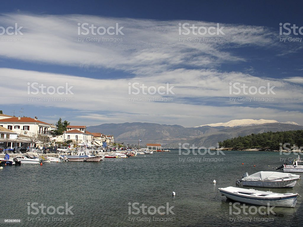 Galaxidi Town Sea-Front - Royalty-free Architecture Stock Photo