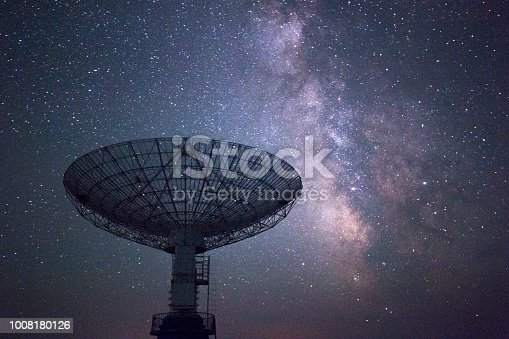 radio telescope under the galaxy