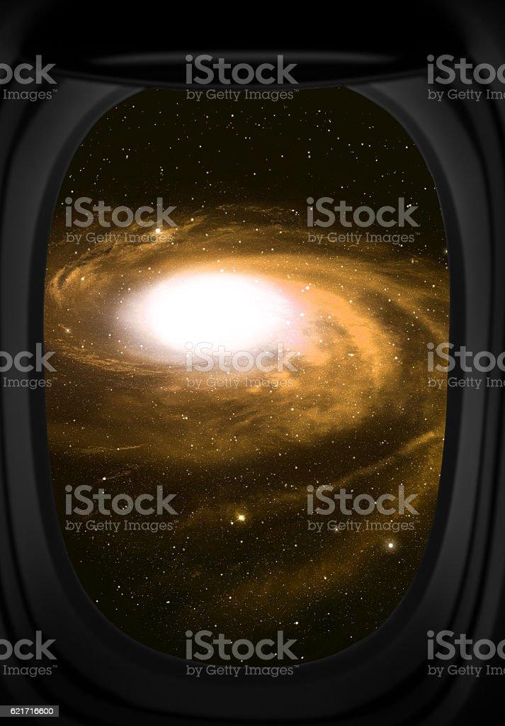 Galaxy and stars. stock photo