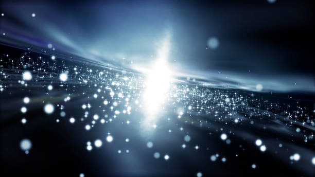 銀河ときらめき星です。抽象的な背景。 ストックフォト