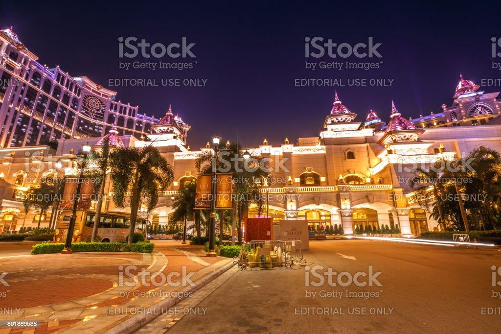 Galaxy Casino front parking stock photo
