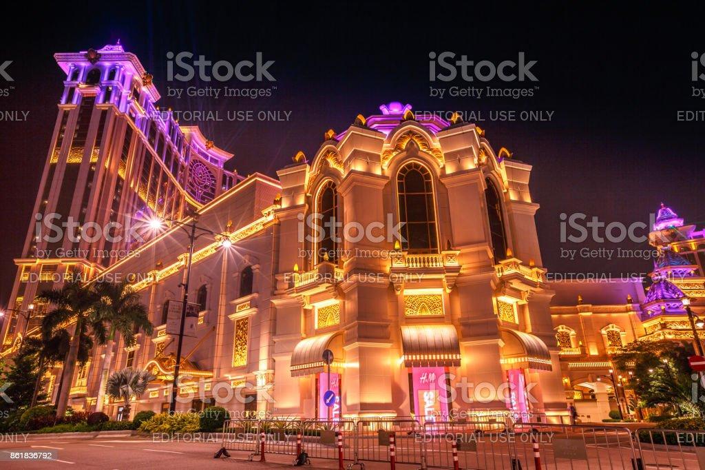 Galaxy Casino laser show stock photo