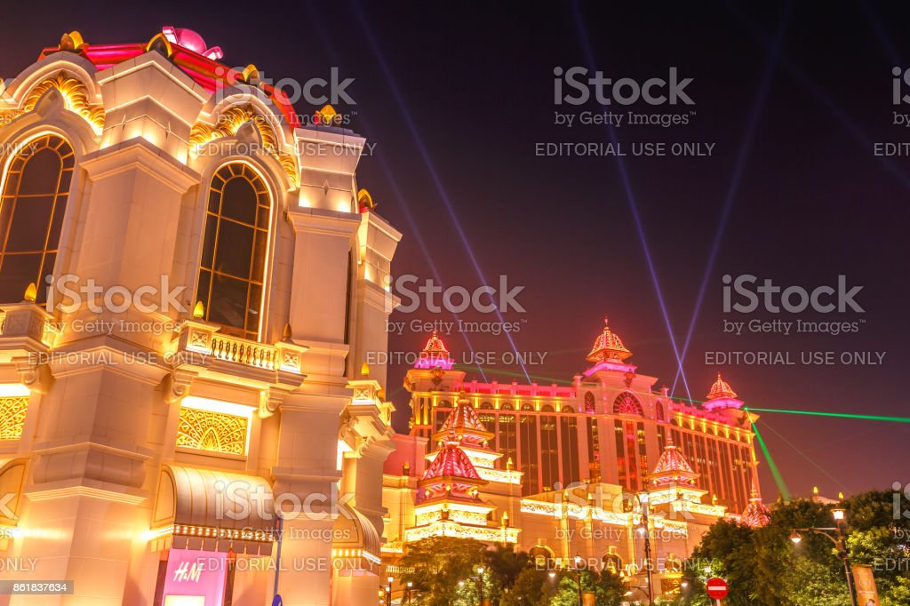 Galaxy Casino lasers stock photo