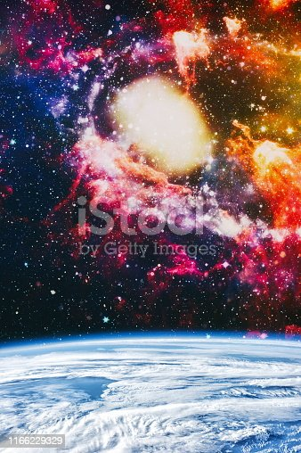 istock Galaxy creative background. Starfield stardust and nebula space. background with nebula, stardust and bright shining stars. Elements of this image furnished by NASA. 1166229329