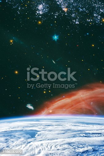 istock Galaxy creative background. Starfield stardust and nebula space. background with nebula, stardust and bright shining stars. Elements of this image furnished by NASA. 1166237070