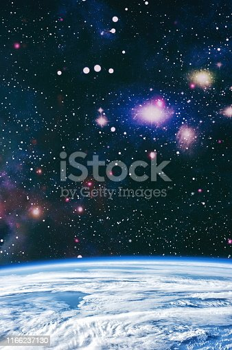 istock Galaxy creative background. Starfield stardust and nebula space. background with nebula, stardust and bright shining stars. Elements of this image furnished by NASA. 1166237130