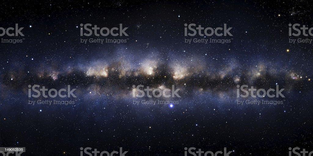 Galaxy illustration royalty-free stock photo