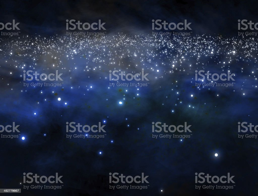 galaxy in outer space stock photo