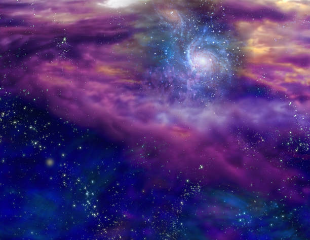 Galaxy in space stock photo