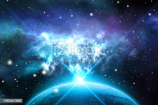Nebula, Space, Stars, Animation, Render, Galaxy, Technology and Science Background