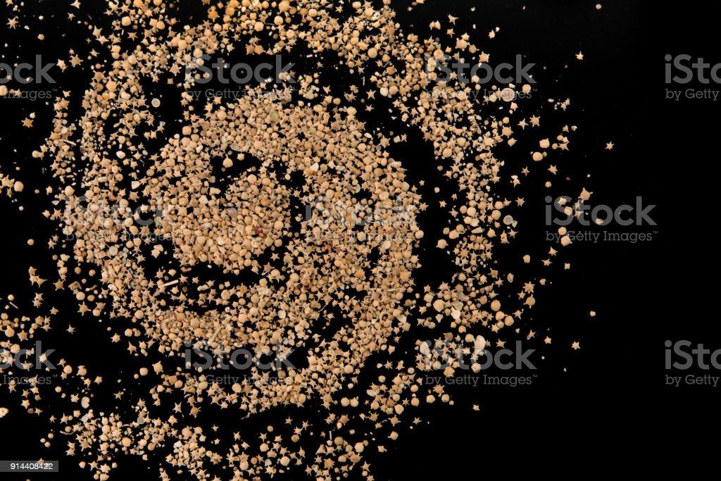 Galaxy of Taketomi beach rare foraminifera star sand royalty-free stock photo