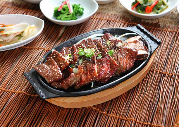 galbi - korea stockfoto's en -beelden