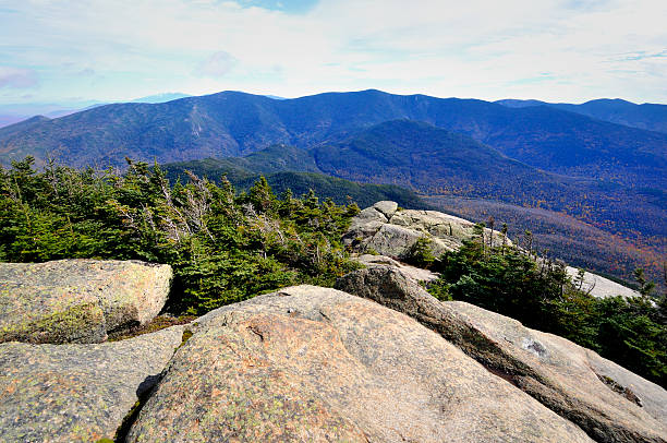 galehead and the twins from mt. garfield summit - mike cherim stock pictures, royalty-free photos & images